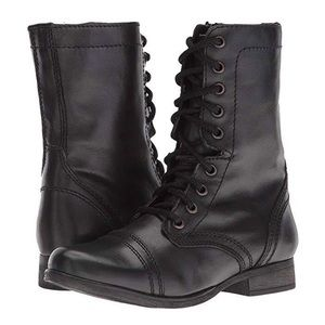 Steve Madden Distressed Combat Boot - Troopa